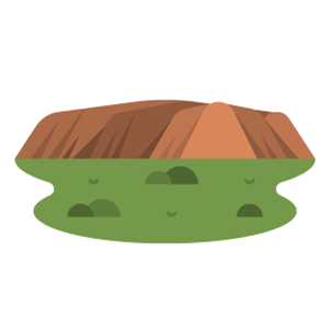 Uluru(Ayers Rock) Free PNG Illustration