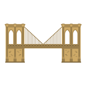 Brooklyn Bridge Free PNG Illustration