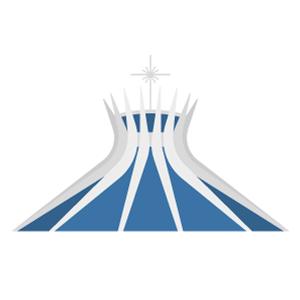 ブラジリア大聖堂の無料イラスト素材