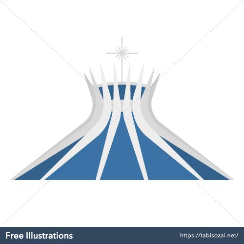 Catedral de Brasilia(Brasil) Ilustración Vectorial Libre