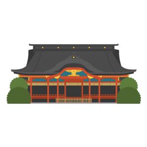太宰府天満宮の無料イラスト素材