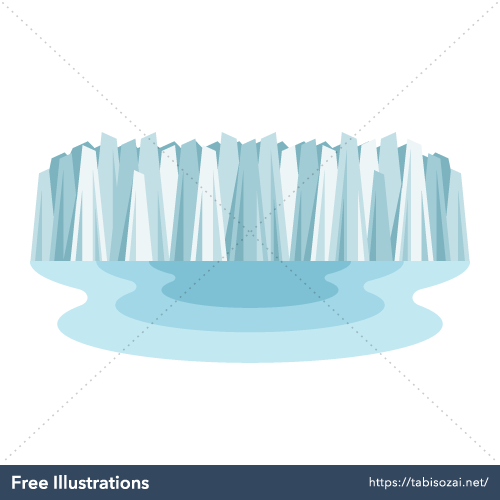 ペリトモレノ氷河の無料イラスト素材