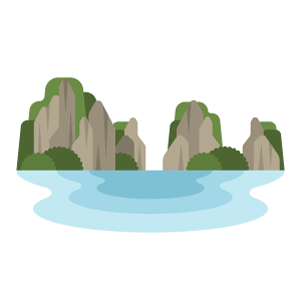 Hạ Long Bay Free Vector Illustration