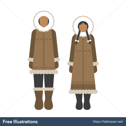 Inuit costume Free PNG Illustration
