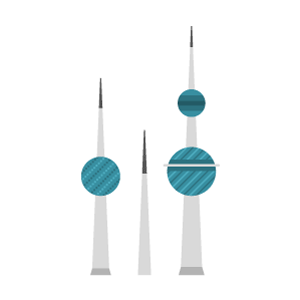 Kuwait Towers Free PNG Illustration