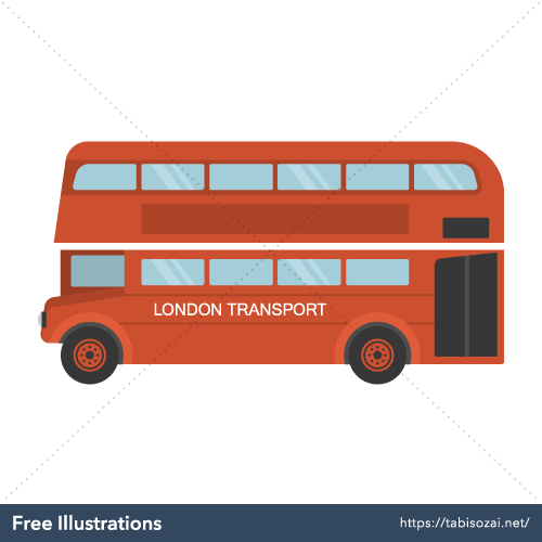 London Buses Free Vector Illustration