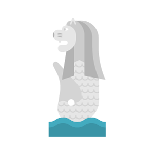 Merlion Free PNG Illustration