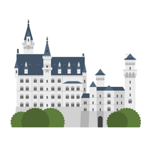 ノイシュヴァンシュタイン城の無料イラスト素材