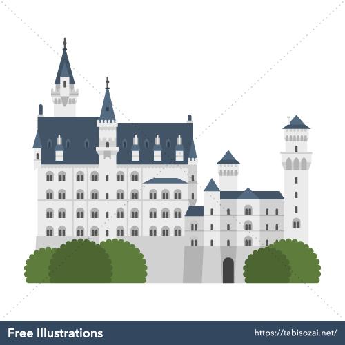 Neuschwanstein Castle Free PNG Illustration