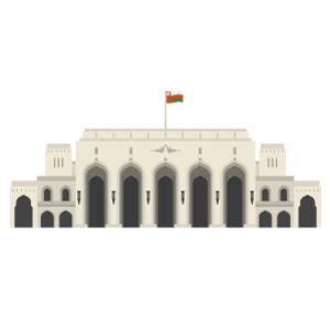 Royal Opera House Muscat Free Vector Illustration