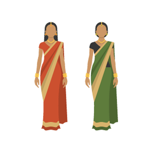 Sari Free Vector Illustration