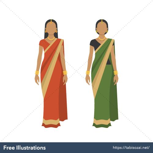 Sari Free Vector Illustration