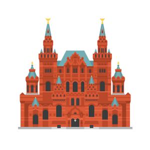 ロシア国立歴史博物館の無料イラスト素材
