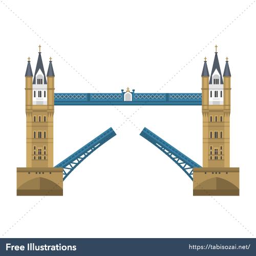 Tower Bridge Free Vector Illustration