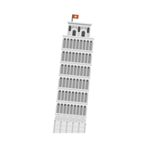 Torre di Pisa Free PNG Illustration