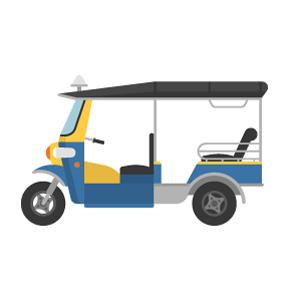 Tuk tuk Free Vector Illustration