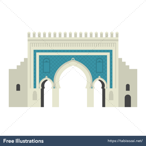 Bab Bou Jeloud Free Illustration