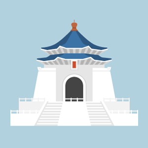 Chiang Kai-shek Memorial Hall Free Vector Illustration