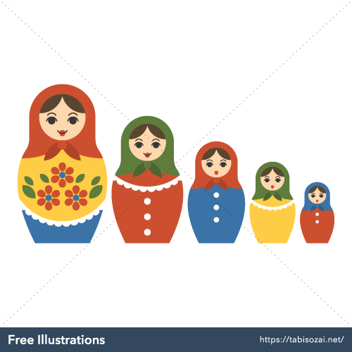 Matryoshka doll Free Vector Illustration