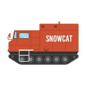 雪上車の無料イラスト素材