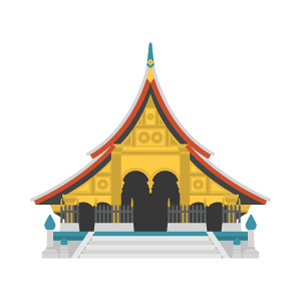 Wat Xieng Thong Free Vector Illustration