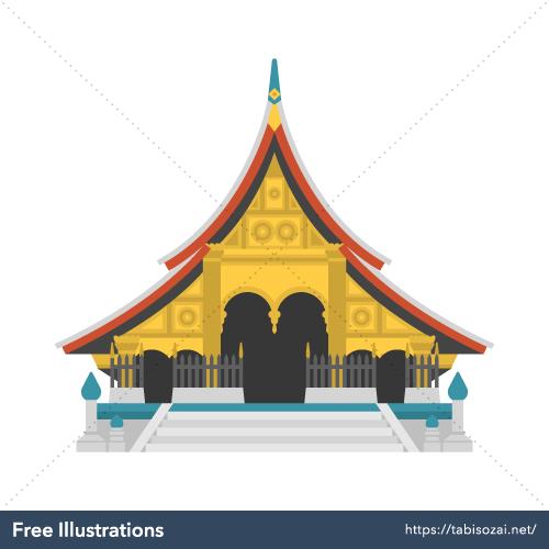 Wat Xieng Thong Free Vector Illustration