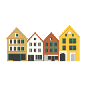 Bryggen Free Vector Illustration