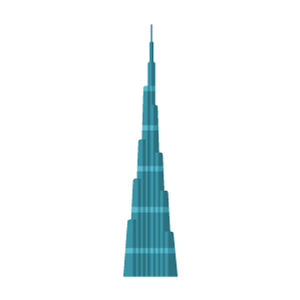 Burj Khalifa Free Vector Illustration