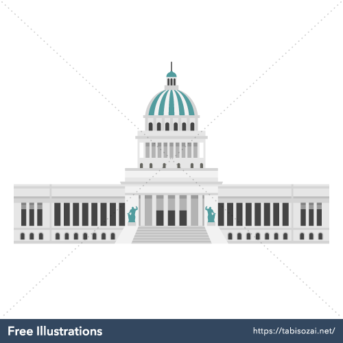 El Capitolio Free Vector Illustration