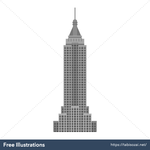 Empire State Building Free Vector Illustration