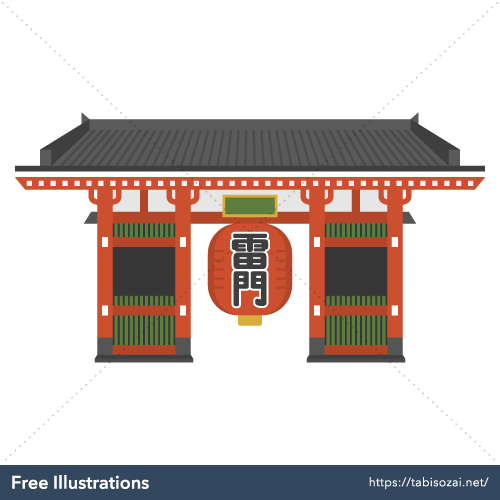 Kaminarimon Free PNG Illustration