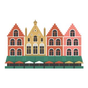 マルクト広場の無料イラスト素材