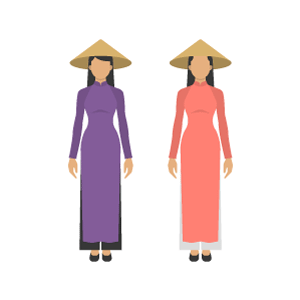 Áo dài Free Vector Illustration