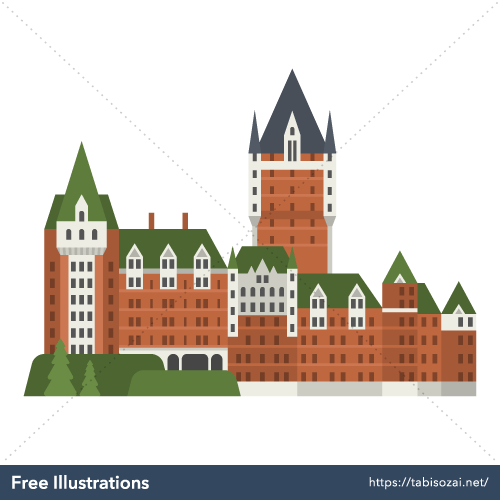 Château Frontenac Free Vector Illustration