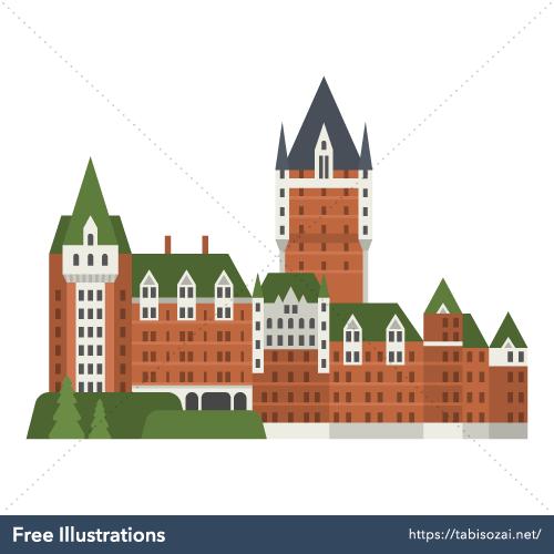 Château Frontenac Free Illustration