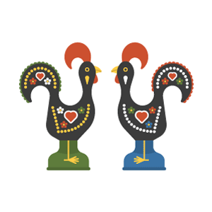 Galo de Barcelos Free PNG Illustration