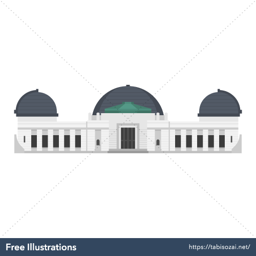 Griffith Observatory Free Vector Illustration