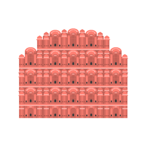 Hawa Mahal Free Vector Illustration