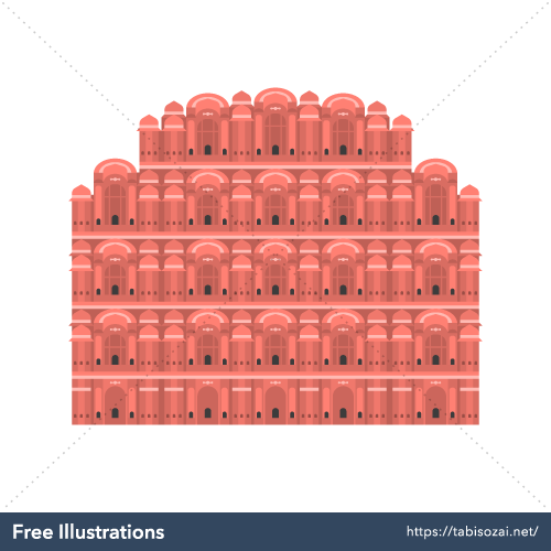 Hawa Mahal Free Illustration