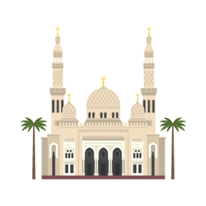 Jumeirah Mosque Free Vector Illustration