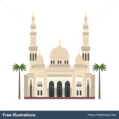 Jumeirah Mosque Free PNG Illustration
