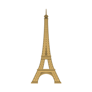 Eiffel Tower Free PNG Illustration