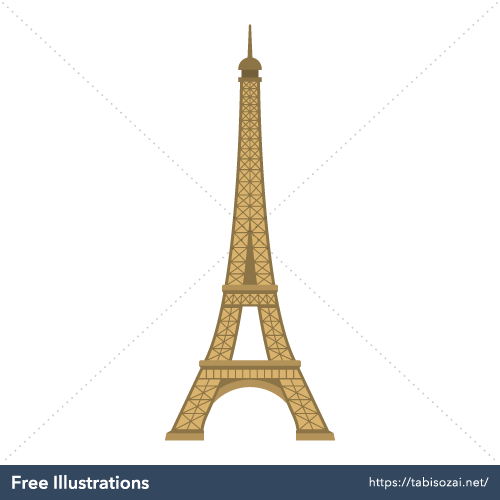 Eiffel Tower Free Vector Illustration