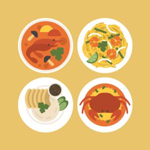 タイ料理の無料イラスト素材