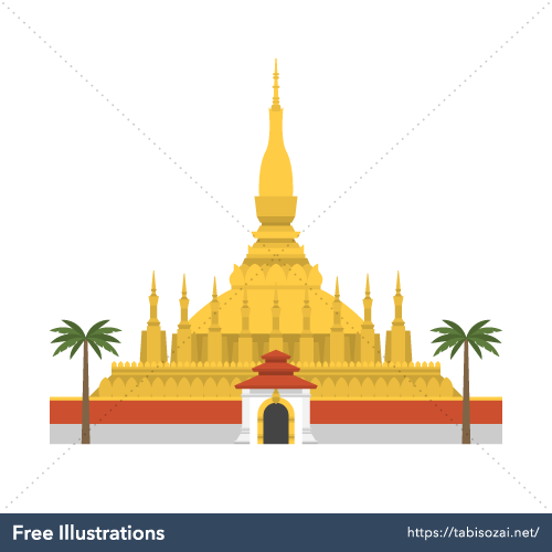 Pha That Luang Free Vector Illustration