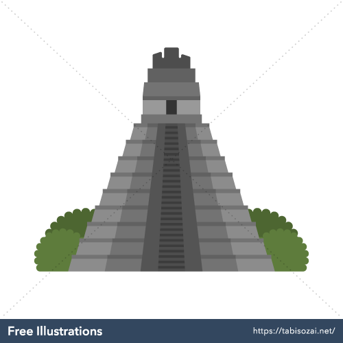 Tikal Free Vector Illustration