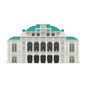 Wiener Staatsoper Free Vector Illustration