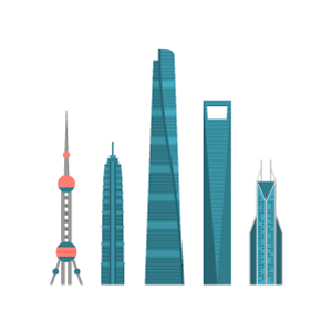 Shanghai building Free PNG Illustration