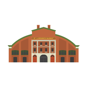 St. Lawrence Market Free PNG Illustration