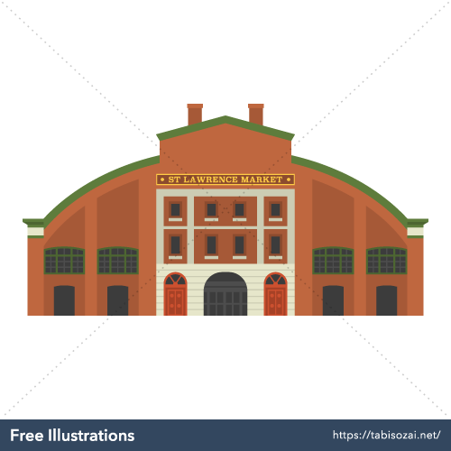 St. Lawrence Market Free Vector Illustration
